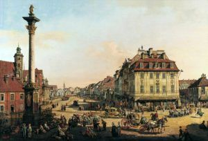 The Castle Square on Canaletto painting