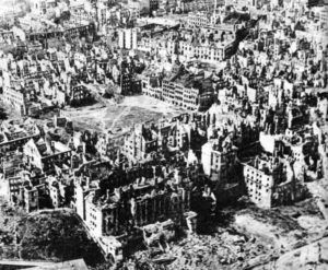Warsaw Old Town in January 1945